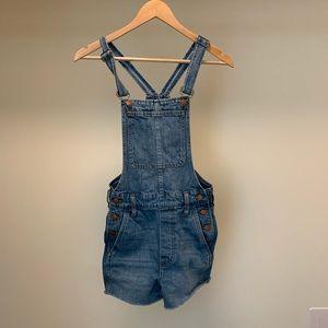 Madewell blue shorts overalls XXS